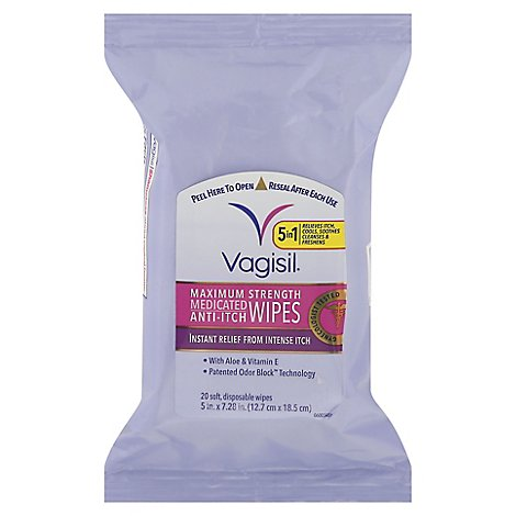 Vagisil Medicated Wipes - 20 Count