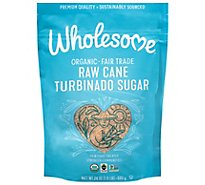 Wholesome Organic Cane Sugar Raw Turbinado - 24 Oz
