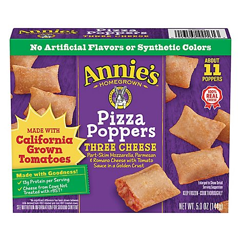 Annies Homegrown Pizza Poppers Three Cheese - 5 Oz