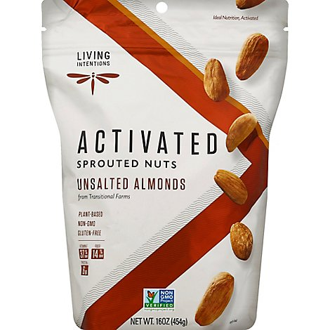Living Intentions Raw Almonds Family Size - 16 Oz
