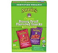 Annies Homegrown Organic Fruit Snacks Bunny Variety Pack - 12-0.8 Oz
