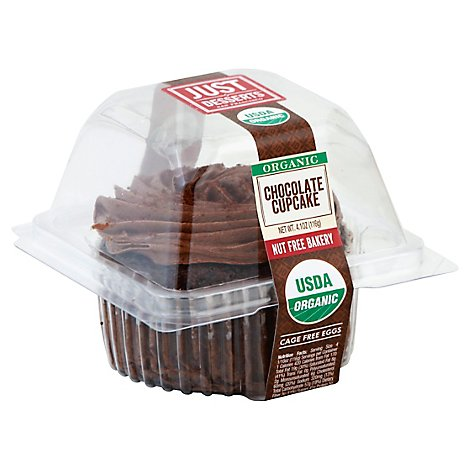 Just Desserts Cupcake Organic Chocolate - Each