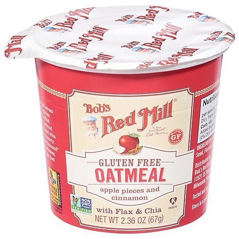 Bobs Red Mill Oatmeal Cup Gluten Free Apple & Cinnamon - 2.36 Oz