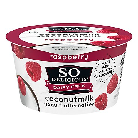 So Delicious All Natural Raspberry Yogurt Made With Coconut Milk - 6 Oz