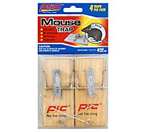 Pic Mouse Traps Wood - 4 Package