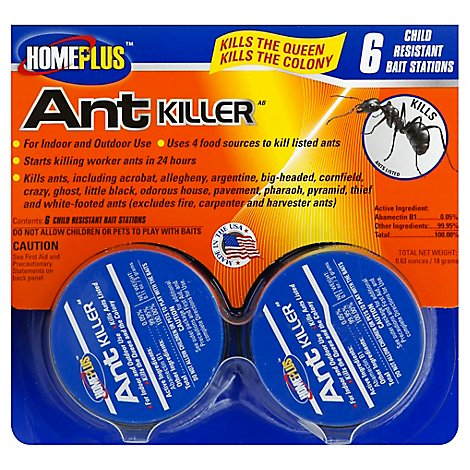 Homeplus Ant Killer Child-Resistant Bait Stations - 4 Count