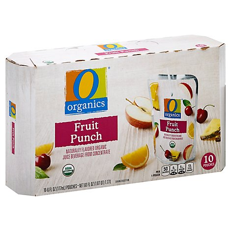 O Organics Organic Juice Beverage Fruit Punch - 10-6 Fl. Oz.