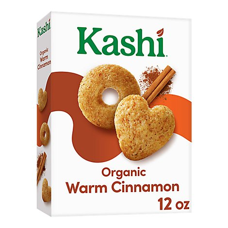Kashi Heart to Heart Breakfast Oat Cereal Organic Warm Cinnamon Non-GMO Project Verified 12 oz