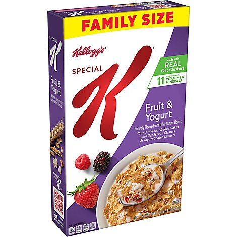Special K Breakfast Cereal Fruit and Yogurt Family Size - 19.1 Oz