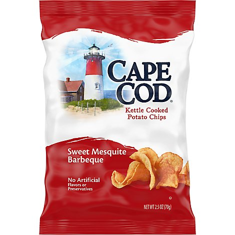 CAPE COD Potato Chips Kettle Cooked Sweet Mesquite Barbeque - 2.5 Oz