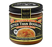 Better than Bouillon Base Vegetarian No Chicken - 8 Oz