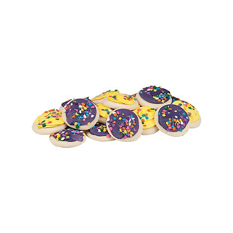 Bakery Cookies Tray Sugar Frosted Yellow Purple - Each
