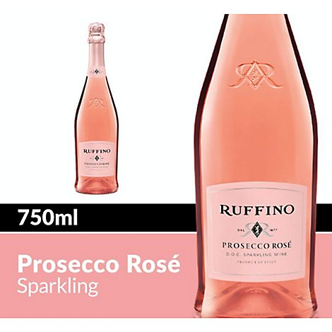 Ruffino Wine Sparkling Rose Italian - 750 Ml