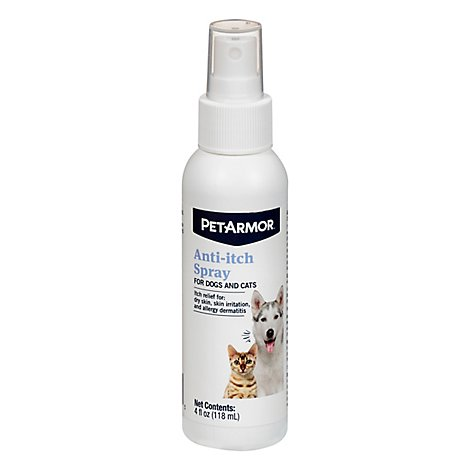 PetArmor Anti-Itch Spray For Dogs & Cats Soothes Dry Skin Bottle - 4 Fl. Oz.