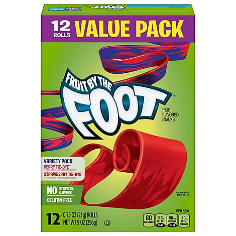 Betty Crocker Fruit Flavored Snacks Fruit By The Foot Variety Pack - 12-0.75 Oz