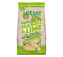 Late July Snacks Tortilla Chips Organic Restaurant Style Sea Salt & Lime - 11 Oz