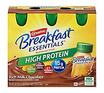 Carnation Breakfast Essentials Ready-To-Drink Bottles High Protein Milk Chocolate - 6-8 Fl. Oz.