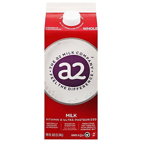 A2 Whole Milk - Half Gallon