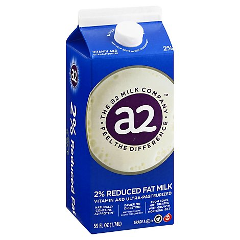 A2 Milk 2% Reduced Fat Milk - Half Gallon