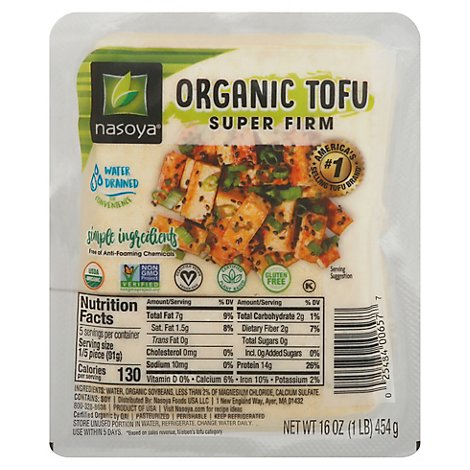 Nasoya Organic Tofu Super Firm - 16 Oz