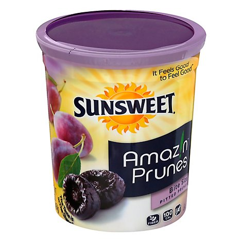 Sunsweet Pitted Prunes Bite Size Canister - 16 Oz
