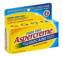 Aspercreme Pain Relieving Creme Maximum Strength Odor Free - 2.7 Oz
