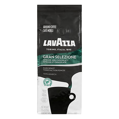 LavAzza Coffee Ground Dark Roast Gran Selezione - 12 Oz