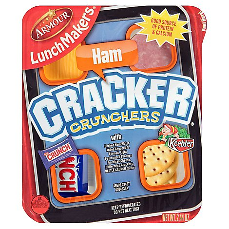 Armour Lunch Maker Cracker Crunchers Ham - 2.6 Oz