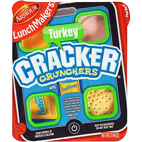 Armour Lunch Maker Cracker Crunchers Turkey - 2.6 Oz