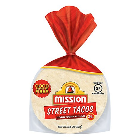 Mission Tortillas Corn Street Tacos Bag 24 Count - 12.6 Oz