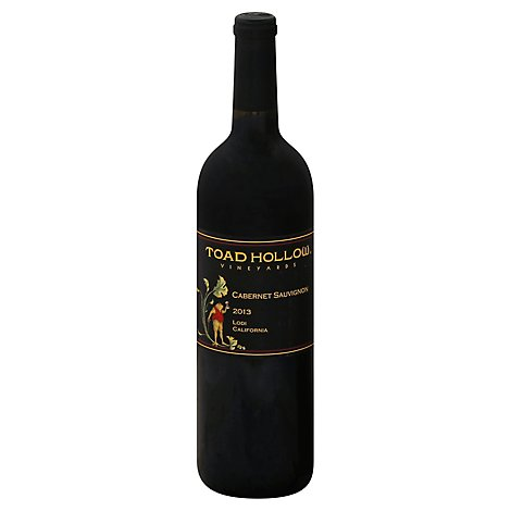 Toad Hollow Cab Sauv Wine - 750 Ml