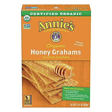 Annies Homegrown Crackers Organic Grahams - 14.4 Oz