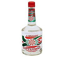 J Brandt Liqueur Schnapps Peppermint 30 Proof - 750 Ml