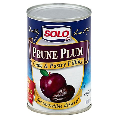 Solo Cake & Pastry Filling Prune Plum - 12 Oz