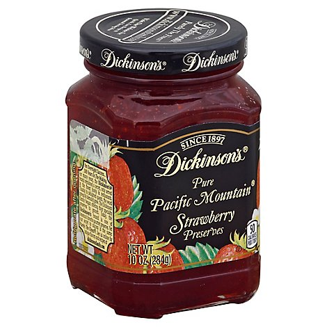 Dickinsons Preserves Pure Pacific Mountain Strawberry - 10 Oz