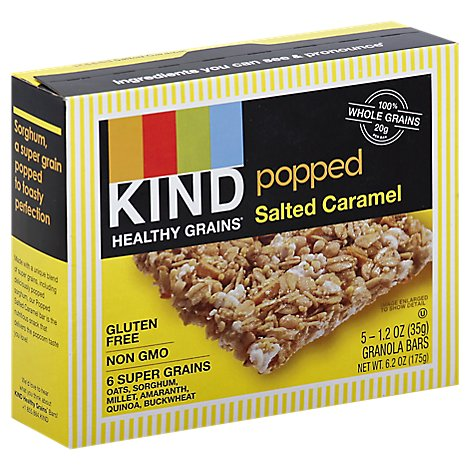 KIND Healthy Grains Granola Bars Popped Salted Caramel - 5-1.2 Oz