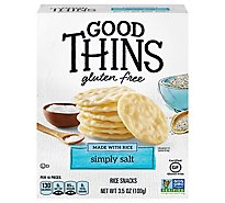 GOOD THiNS Crackers Rice Simply Salt Gluten Free - 3.5 Oz