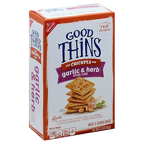 GOOD THiNS Snacks Wheat & Chickpea Garlic & Herb - 5.75 Oz