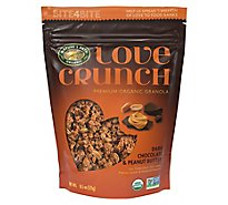 Natures Path Organic Love Crunch Granola Dark Chocolate & Peanut - 11.5 Oz