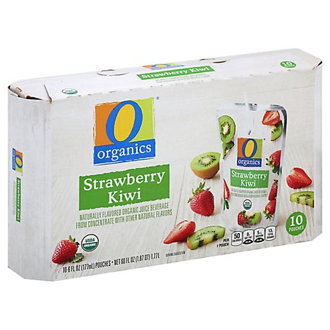 O Organics Organic Juice Beverage Strawberry Kiwi - 10-6 Fl. Oz.