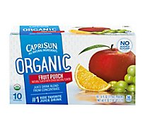 Capri Sun Fruit Punch Organic - 10-6 Fl. Oz.