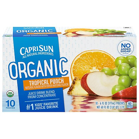 Capri Sun Tropical Punch Organic - 10-6 Fl. Oz.