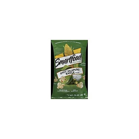 Smartfood Popcorn Spicy Jalapeno Ranch Flavored - 2.25 Oz