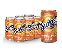 Sunkist Soda Orange - 6-7.5 Fl. Oz.