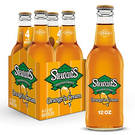 Stewarts Fountain Classics Orange N Cream Soda - 4-12 Fl. Oz.