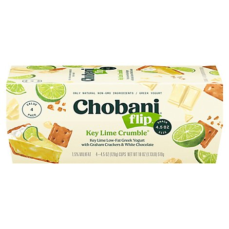 Chobani Flip Yogurt Greek Key Lime Crumble - 4-5.3 Oz