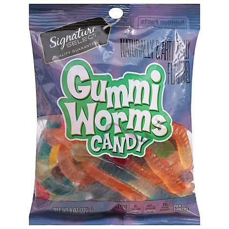 Signature SELECT Candy Gummi Worms - 8 Oz