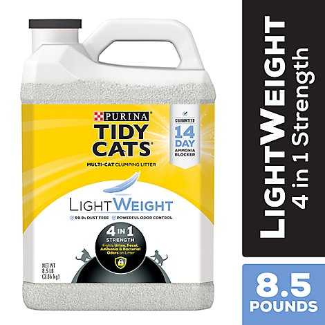 Tidy Cats Cat Litter Clumping LightWeight 4 In 1 Strength - 8.5 Lb