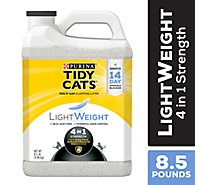 Tidy Cats Cat Litter Clumping 4-in-1 Strength Lightweight Tub - 8.5 Lb