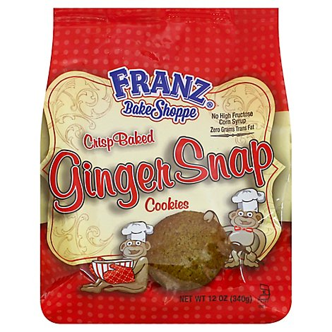 Franz Bake Shoppe Ginger Snap Cookies - 12 Oz